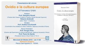 Presentazione volume: Ovidio e la cultura europea @ Biblioteca Angelica | Roma | Lazio | Italia